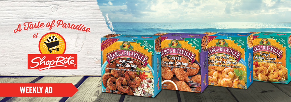 Margaritaville Foods Available at Shop Rite